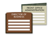 4-slot suite id signs